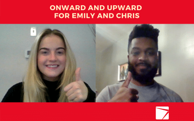 Onward and Upward for Emily and Chris