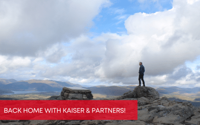 Back home with Kaiser & Partners!
